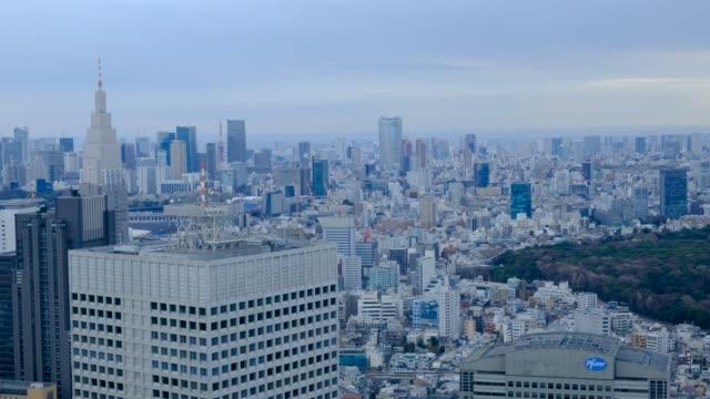 Tokyo view from skyscraper 4K