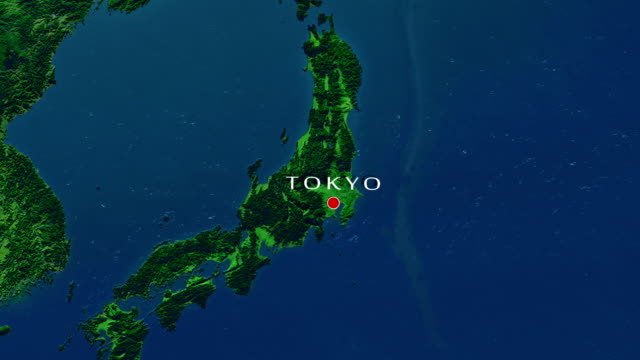 tokyo zoom in - aerial map stock videos & royalty-free footage
