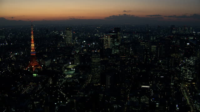 七夕の夜に - 東京タワー点の映像素材/bロール