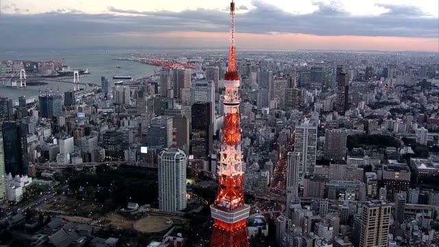 stockvideo's en b-roll-footage met tokyotower dagtijd - tokio kanto
