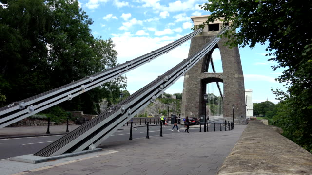 toll road on the bridge: suspension bridge Bristol, UK video