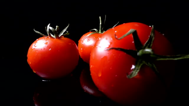 Tomato Falling And Splashing video