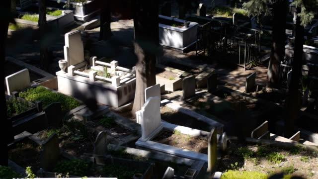 Tombs in Turkish muslim graveyard