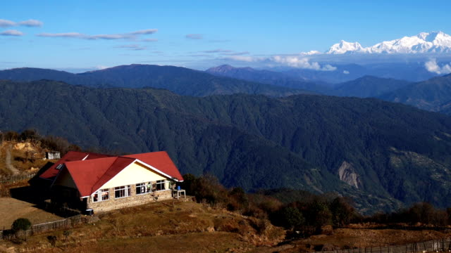 ZO, Tonglu trekkers hut is on the way to go to Sandakphu, it's on high altitude for trekking take rest, It's can see Kangchenjunga mount. video