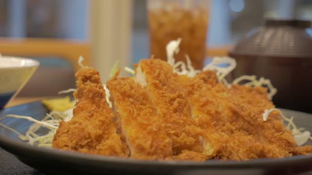 Tonkatsu - japanese deep fried cutlet pork video