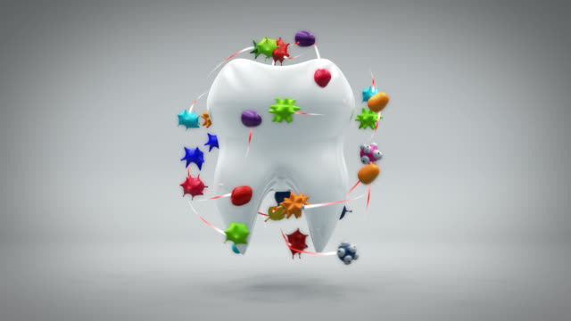 Tooth and bacteria - 3D Animation video