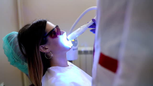 Tooth filling ultraviolet lamp video