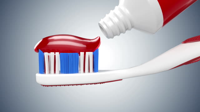 Toothpaste on Tooth Brush video