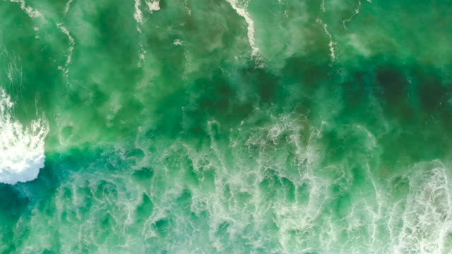 top looking down at sea. - sustainability video stock e b–roll