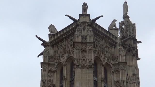 top of a tower - gargoyle video stock e b–roll