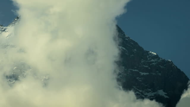 Top of Eiger North face white spider hanging glacier video