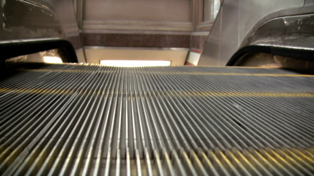 Top of the Escalator (Time Lapse) Time lapse and point of view angle: Hanging out at the top of an escalator. (No Audio) grooved stock videos & royalty-free footage