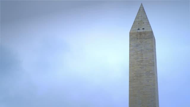 top of the washington monument-hd timelapse - sezione superiore video stock e b–roll