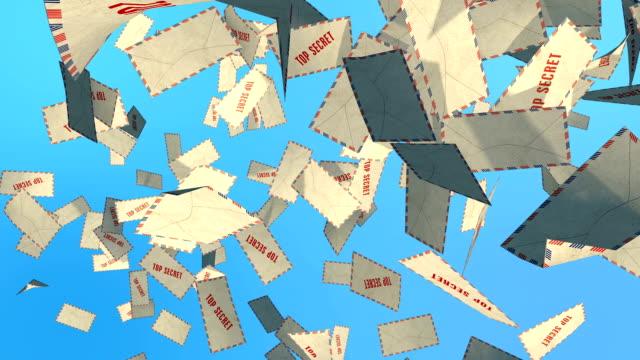 Top secret mail Top secret mail 3d animation+Matte alpha business card stock videos & royalty-free footage