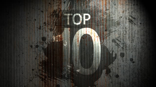 Top ten Countwon old metal surface
