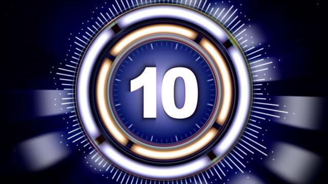 数 10、アルファ ・ チャンネル、10 番号アニメーションをレンダリングするバック グラウンド ループ ビデオ