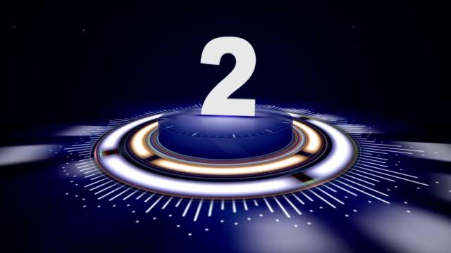 Numéro 2, Top dix numéros Animation avec un canal Alpha, rendu, fond, boucle - Vidéo