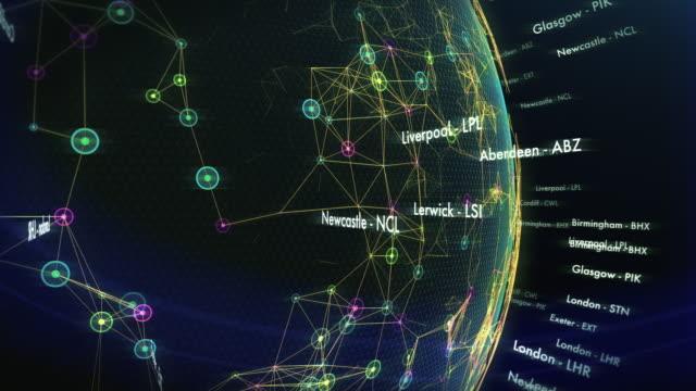 Principais aeroportos do Reino Unido com cidades e códigos IATA - vídeo