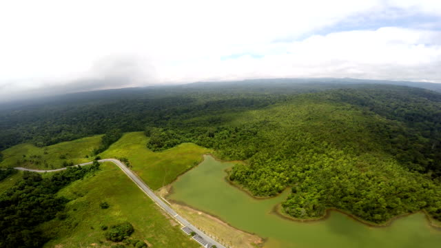 Top view at Khao Yai national park. video