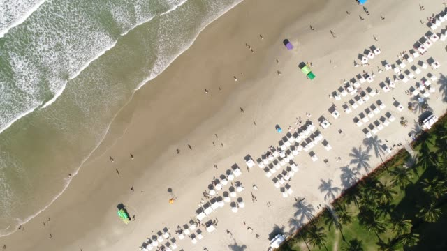 Top View of a Beach in Brazil video