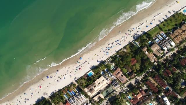 Top View of a Beach Top View of a Beach turks and caicos islands stock videos & royalty-free footage