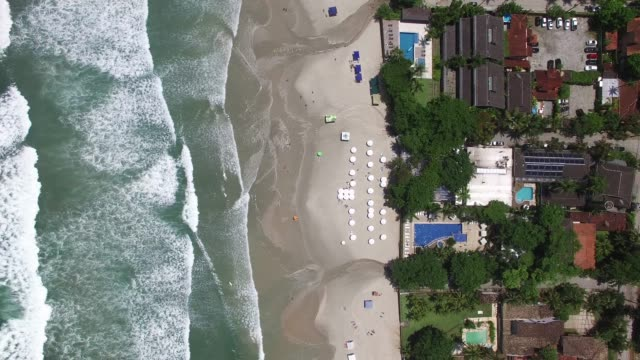 Top View of a Beach Top View of a Beach big island hawaii islands stock videos & royalty-free footage