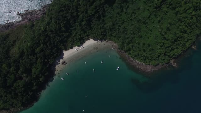 Top View of a Paradise Island video