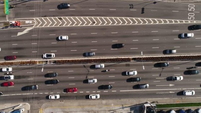 top view of avenida 23 de maio, sao paulo, brazil - проспект стоковые видео и кадры b-roll