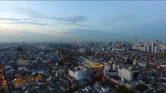 Top view of Bangkok City. video