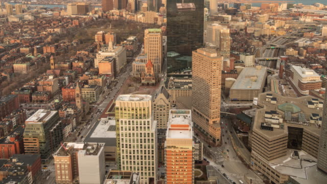 Top view of Boston city center video