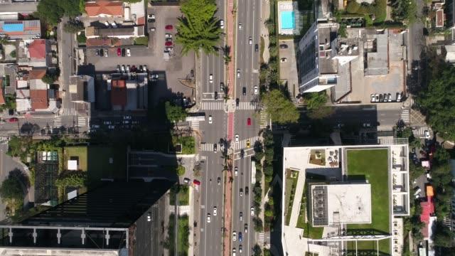 vidéos et rushes de haut de la page vue de l'avenue faria lima à sao paulo, brésil - avenue
