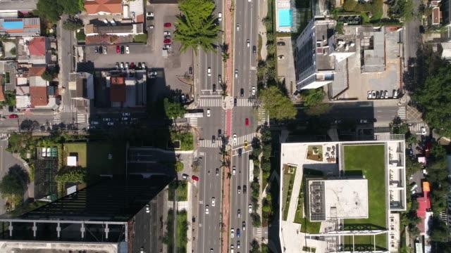 Top View of Faria Lima avenue in Sao Paulo, Brazil video