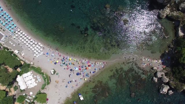 Top View of Isola Bella at Taormina, Sicily, Italy video