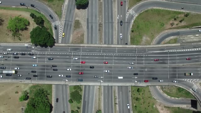 Top View of Radial Leste Avenue, in Sao Paulo, Brazil video