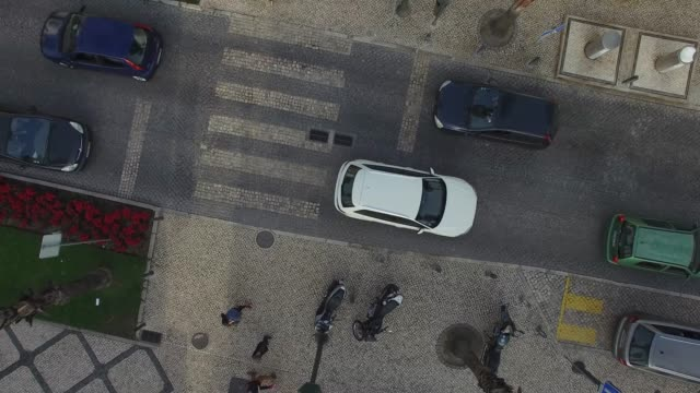 Top View of Street by Drone
