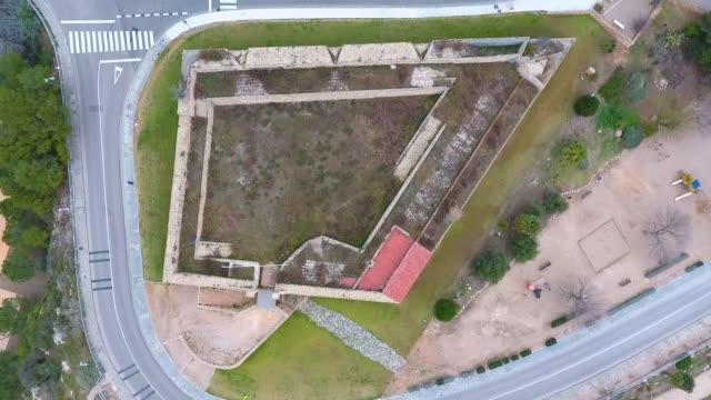 Top view of the military fort in Tarragona, Spain