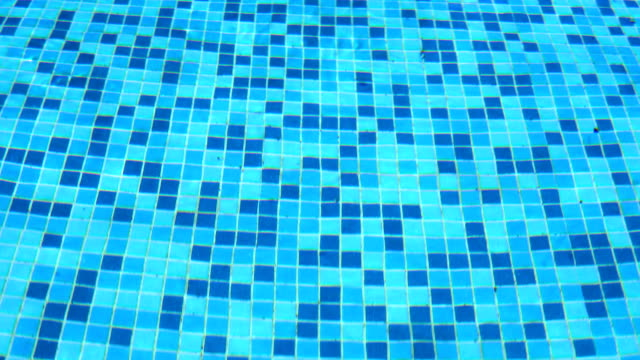 Top view of the surface of a swimming pool