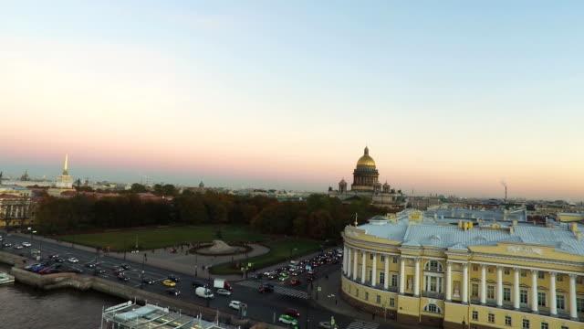 ovanifrån på staden st petersburg ryssland - isakskatedralen bildbanksvideor och videomaterial från bakom kulisserna
