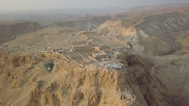 Top view, part of Masada remains and fortress