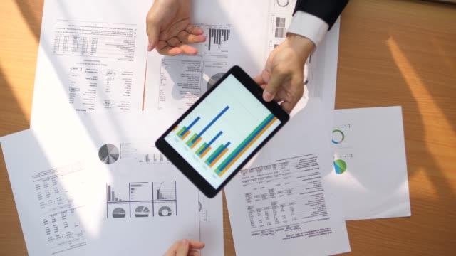 Draufsicht statistische Analyse-Präsentation – Video