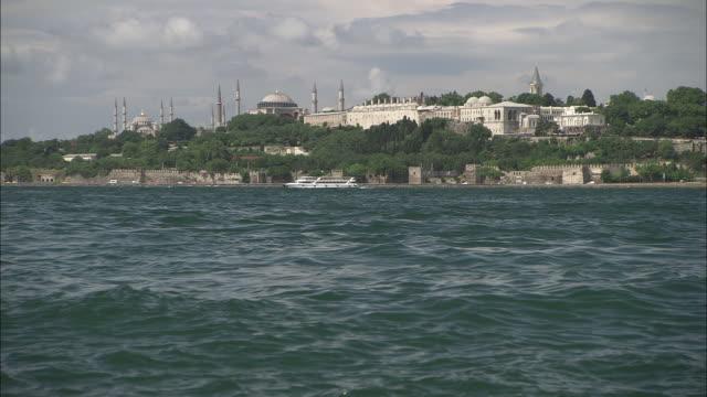 Topkapi (Ottoman ) view by bosphorus sea in Istanbul, Turkey video