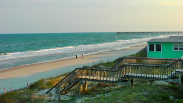 topsail island – outer banks nc - landhaus stock-videos und b-roll-filmmaterial