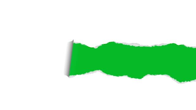 vidéos et rushes de papier déchiré avec mat - feuille
