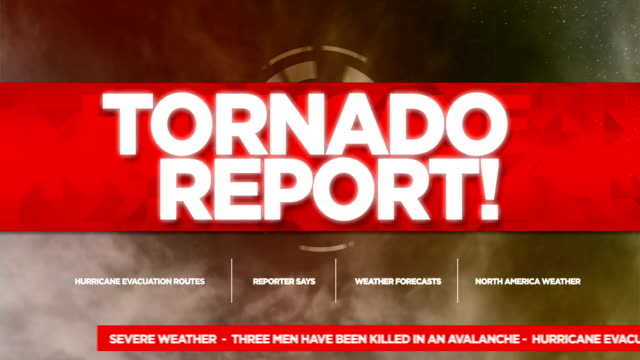 Tornado Alert Broadcast Tv Graphics Title