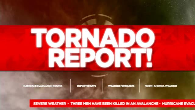 tornado alert broadcast tv graphics title - tornado video stock e b–roll