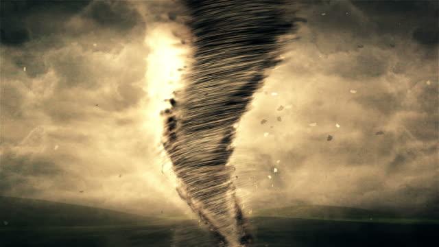 vidéos et rushes de tornade et storm 4 k animation - entonnoir