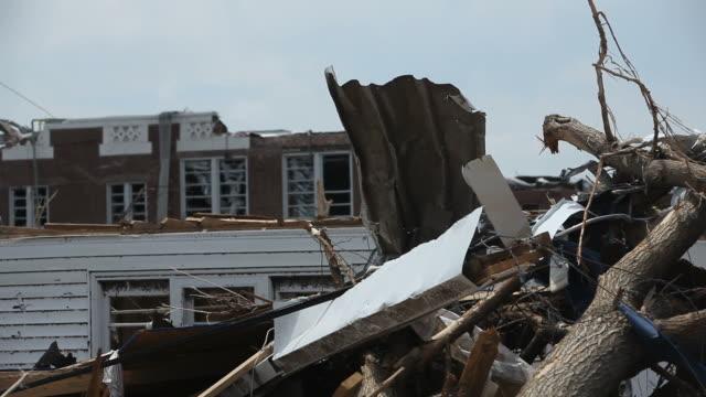 vídeos y material grabado en eventos de stock de tornado daños de joplin, missouri - tornado