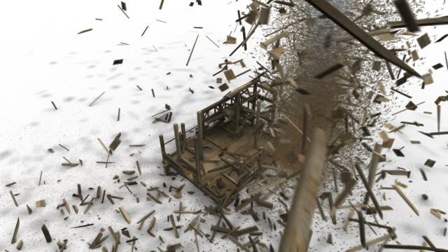 Tornado Smashes a Building video