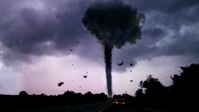 tornado al campo 2 - tornado video stock e b–roll