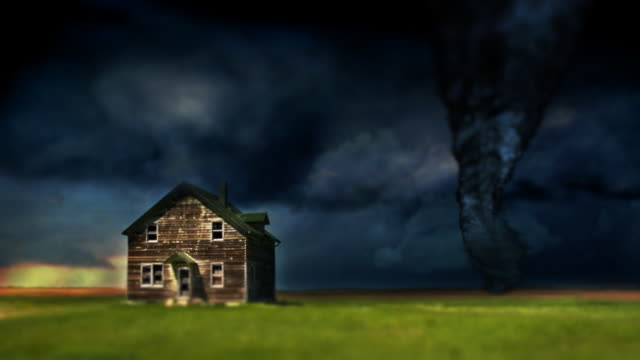 Tornado Twister and Farmhouse video
